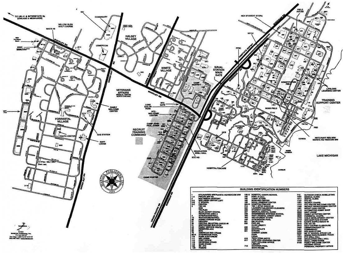 Great Lakes Naval Base Map  My blog